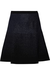 Prabal Gurung Metallic Stretch Knit Mini Skirt Blue