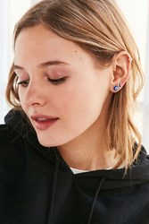 Urban Outfitters Dale Glass Bead Post Earring Pack Blue