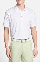 Peter Millar Moisture Wicking Stretch Jersey Polo White