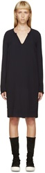 Raquel Allegra Navy Crepe Shift Dress