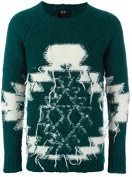N 21 No21 Geometric Knitted Sweater Green