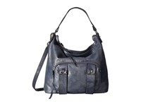 She Lo Next Chapter Hobo Navy Metal Hobo Handbags Blue