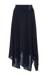 A.L.C. Charles Belted Midi Skirt Navy