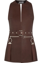 Givenchy Vest In Brown Leather