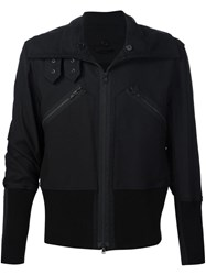Ann Demeulemeester Zipped Biker Jacket Black