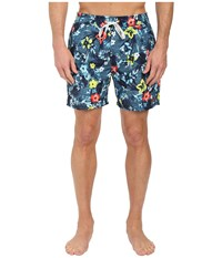 Sperry Floral Reef Volley Shorts Ink Blue Men's Swimwear