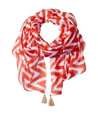 San Diego Hat Company Bss1646 Lightweight Scarf With Corner Tassels Grenadine Scarves Red