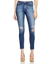 Ag Jeans Ag Destructed Skinny Midi Ankle Jeans In Dark Blue 100 Bloomingdale's Exclusive
