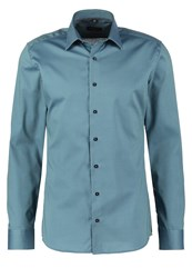 Eterna Slim Fit Formal Shirt Petrol