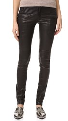 Marissa Webb New Binta Leather Moto Pants Black