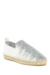 Vince Robin Reptile Embossed Espadrille Flat White