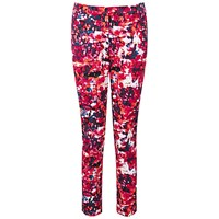 Pure Collection Banbury Capri Trousers Pink Abstract Print