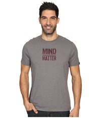 Prana Mind Matter Gravel Men's Short Sleeve Pullover Silver