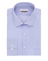 Van Heusen Striped Flex Collar Dress Shirt Ice Blue