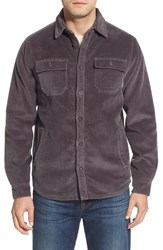 Men's Jack O'neill 'Breakers' Corduroy Shirt Jacket Charcoal