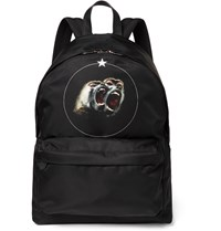 Givenchy Monkey Brothers Printed Shell Backpack Black