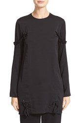 Dkny Women's Twill Tape Detail Stretch Silk Tunic