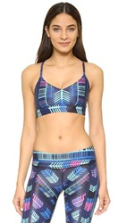 Mara Hoffman Voyager Sports Bra Black Multi
