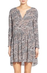Women's Hinge Floral Print Swing Dress Grey Magnet Ditsy Forest