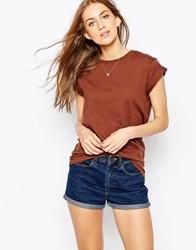 Asos Ultimate Easy T Shirt Chocolate Brown