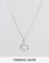 Reclaimed Vintage Sterling Silver Scorpio Zodiac Necklace Silver