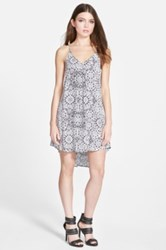 Astr Print Shift Dress Juniors Gray