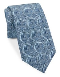 Vince Camuto Abstract Floral Silk Blend Tie Blue