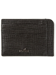 Hogan Pebbled Leather Cardholder Black