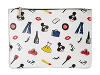 Alice Olivia Stacey Print Medium Zip Pouch Multi