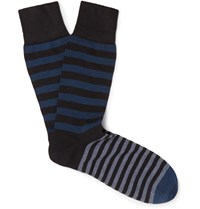 Kingsman Corgi Striped Cotton Blend Socks Blue