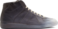 Maison Martin Margiela Grey And Black Ombr Mid Top Sneakers