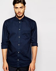 Weekday Shirt Happy Times Oxford Navy