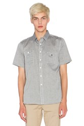 Huf Chambray Short Sleeve Button Up Blue