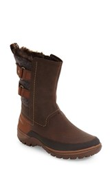 Merrell Women's Sylvia Waterproof Faux Fur Lined Boot Brown Leather