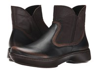 Naot Footwear Surge Volcanic Brown Dark Sienna Leather Crazy Horse Leather Women's Boots Black