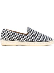 Paul And Joe Houndstooth Effect Espadrilles Blue
