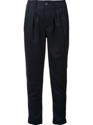 Nsf Cropped Trousers Blue