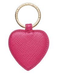 Smythson Panama Heart Key Ring