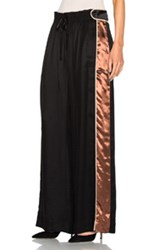 Peter Pilotto Satin Trousers In Black