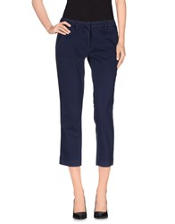Met And Friends Trousers 3 4 Length Trousers Women Dark Blue