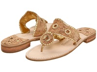 Jack Rogers Napa Valley Navajo Flat Cork Gold Stitching Women's Sandals