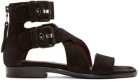 Rag And Bone Black Suede Madeira Sandals