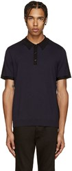 Rag And Bone Navy And Black Dustin Polo