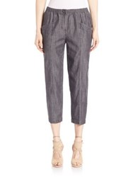 Eileen Fisher Chambray Cropped Pants Black