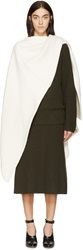 Lemaire Off White Virgin Wool Stole