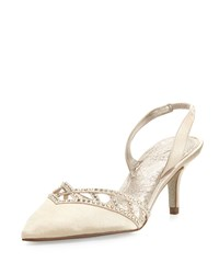 Adrianna Papell Haven Crystal Trim Satin Pump Nude