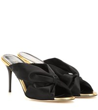 Oscar De La Renta Satin Sandals Black