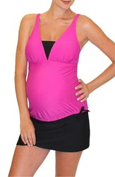 Mermaid Maternity Women's Tankini Top Rose