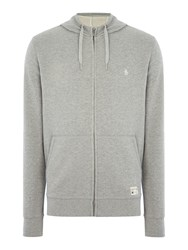 Original Penguin Loop Back Hooded Marl Sweatshirt Grey