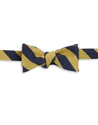 Brooks Brothers Wool And Silk Bow Tie Yellow